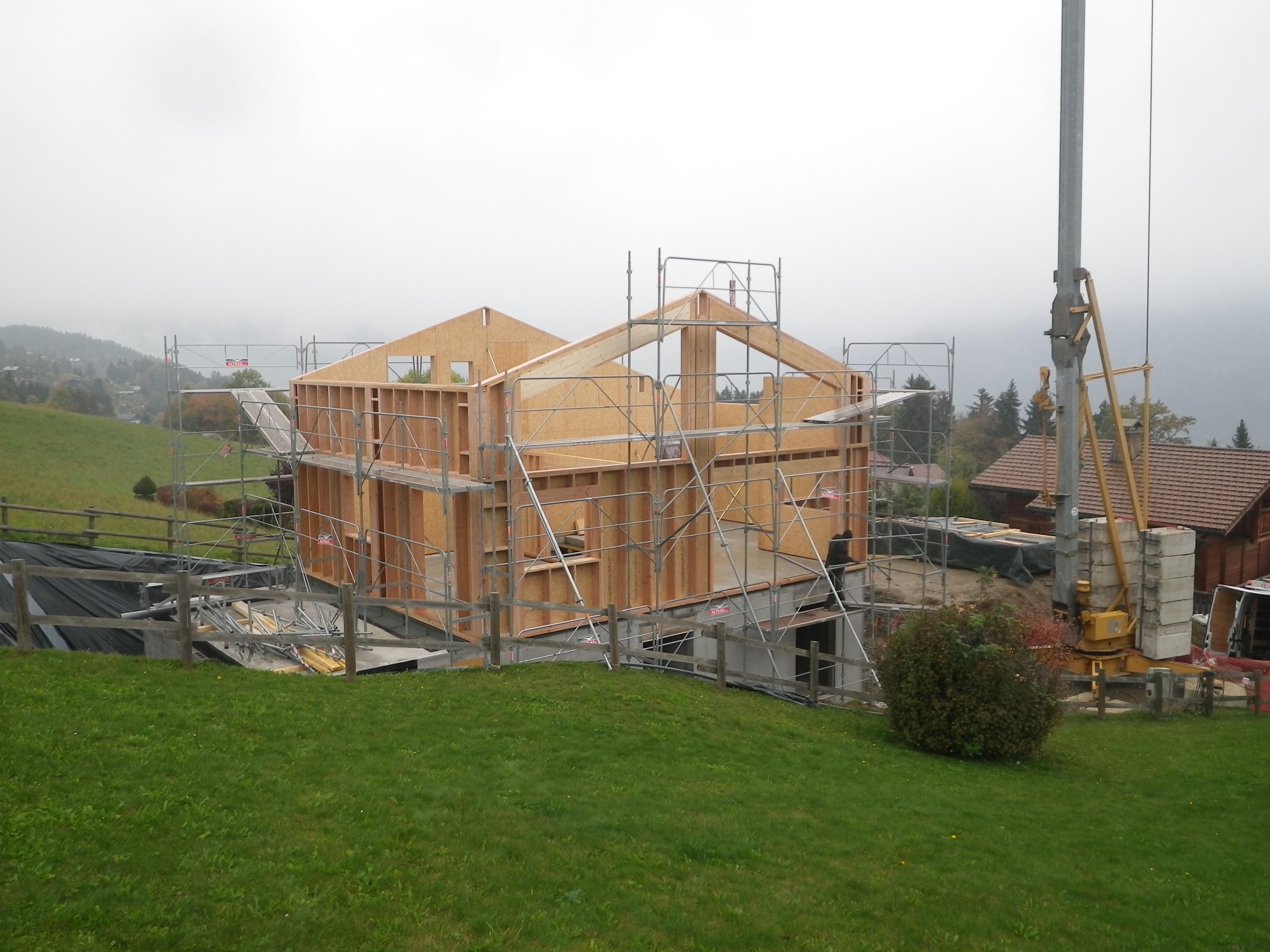 Constructeur maison ossature bois savoie - Interieur maison ossature bois ...