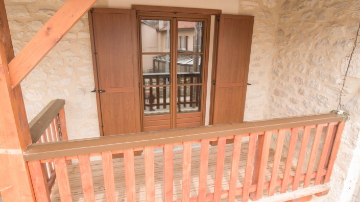 Porte fenêtres INTERNORM PVC/Alu avec volet alu